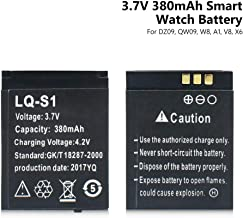 Smart Watch Battery,LQ-S1 Rechargeable Lithium Battery for DZ09 QW09 W8 A1 V8 Smart Watches,3.7V 380mAh Capacity, 1Pc