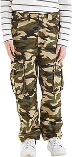 BYCR Boys' Skinny Elastic Waistband Cotton Camo Cargo Jogging Pants