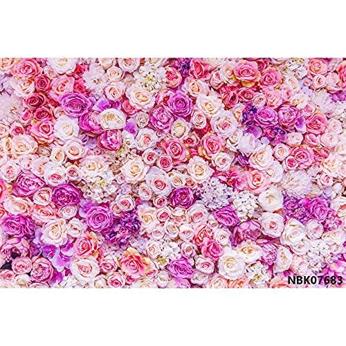 Fantasía Flores Pared Rosa Bush Baby Shower Decro cumpleaños Fiesta Boda Foto...