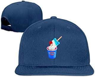 Syingshi Design DQ Star Spangled Blizzard Treat Geek Fashion Baseball Hat for Mens Black