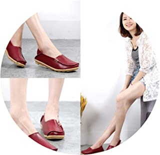 2019 Fashion Genuine Leather Women Flats Shoes Female Casual Flat Women Loafers