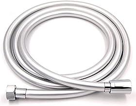 JIAN PVC Hogedruk zilver en zwart PVC Gladde doucheslang Fit voor bad Handheld douchekop Flexibele doucheslang 360 ° rotat...