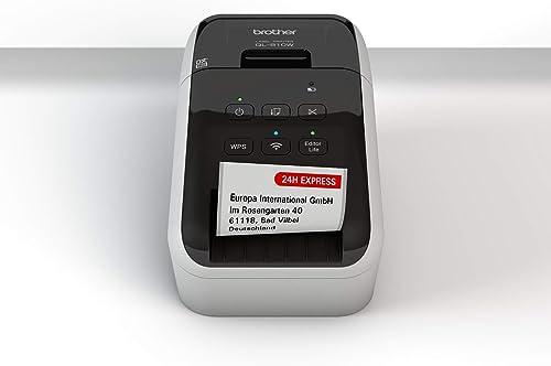Brother QL-810W Imprimante D'Étiquettes Professionnelle - Impression Rouge/Noir - Rouleaux DK - WiFi