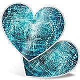 2 pegatinas de corazón de 7,5 cm – Biotech Computer Science Divertidas calcomanías para portátiles, tabletas, equipaje, reserva de chatarras, neveras, regalo genial #3102