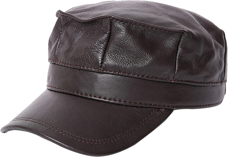 Cowskin Gorgeous Military Hats Women Ear Flap Cap Genui Flat Max 46% OFF Baseball Top