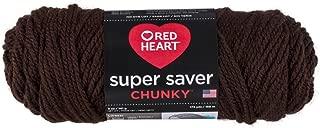 Red Heart Super Saver Chunky, Coffee Yarn