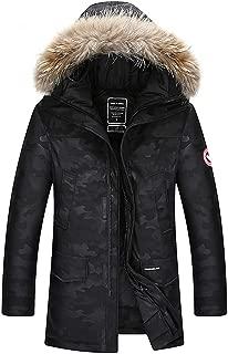 2019 Winter Jacket Men Fashion Thick Warm Parkas Fur White Duck Down Coats Casual Waterproof