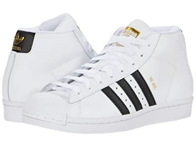 adidas Originals Kids Pro Model J (Big Kid) (Footwear White/Core Black/Gold Foil) Kids Shoes