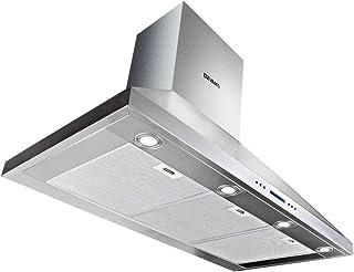 Devanti Rangehood BBQ Commercial Range Hood Alfresco Canopy Kitchen Stainless 1500MM