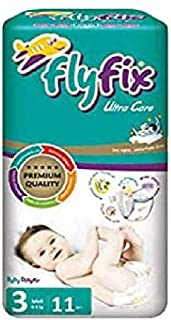 FlyFix TRFFXBD100001 Baby Diapers, Ultra Comfort and Protection, Midi, (4-9 kg) - 11 pcs, Unisex