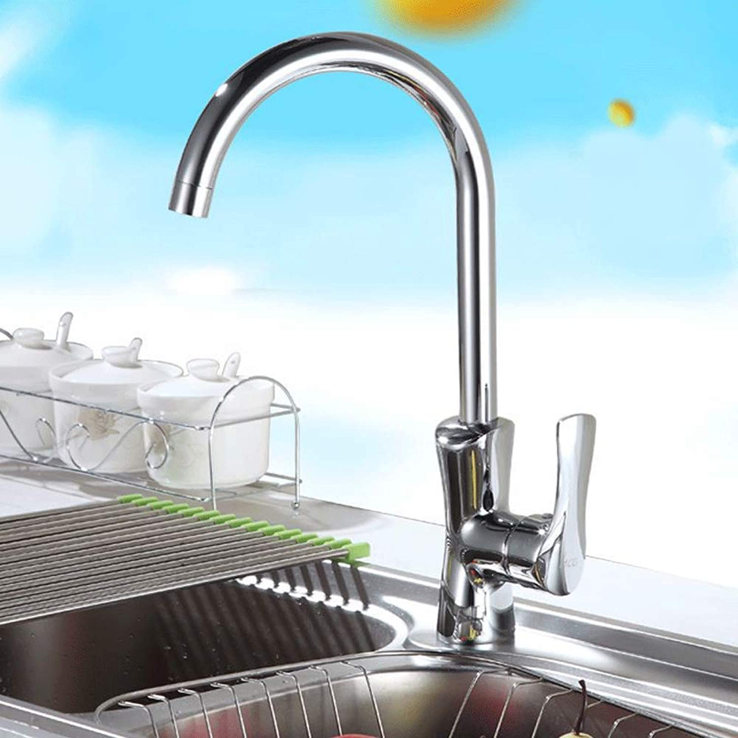 Fire wolf - faucet: Kitchen Faucet high Standard Cold Sink, Vegetable Washing Basin Faucet