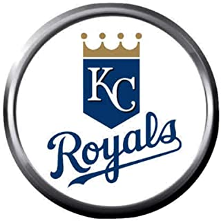 Royals Baseball Kansas City Royals Logo KC MLB 18MM - 20MM Snap Jewelry Charm