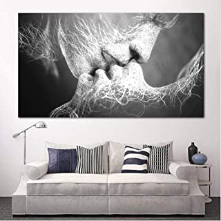 Canvas Painting Decorative Paintings Oil Painting Love Kiss Wall Art Canvas Prints Pictures for Living Room Modern Picture...