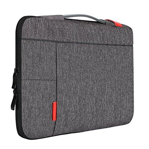 iCozzier 11,6 Zoll Laptoptasche mit Griff tragbare Tablet Hülle Schutztasche für MacBook Air 11 / Surface Pro 6 / Ultrabook Notebook Sleeve - Grau