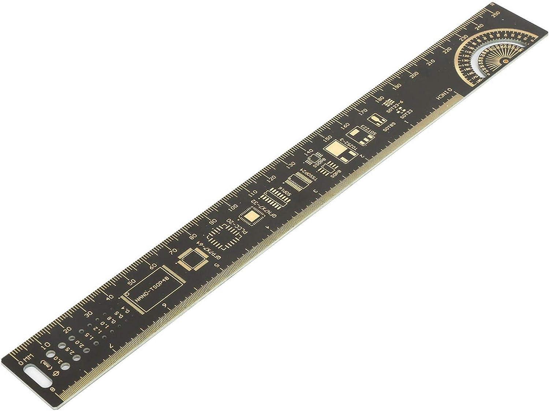 LANTRO JS - Medidor de placa de circuito impreso multifuncional con regla de placa de circuito impreso para ingenieros electrónicos de 10 pulgadas/25 cm