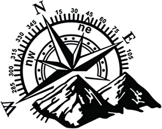 perfecthome 1 STÜCK 60 50 cm Gebirge Kompass Navigation Auto Aufkleber, D 813 Kompass Tür Stick Berg Abdeckung Haube Körper Aufkleber