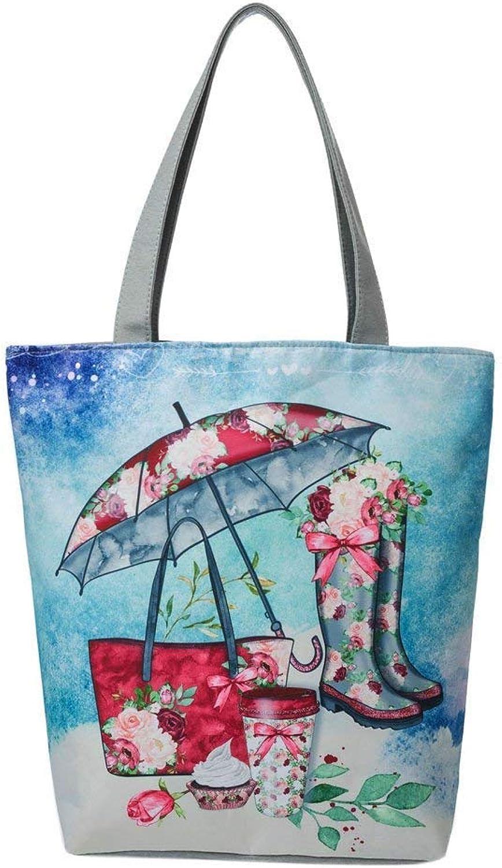Bloomerang Women Bag National Wind Canvas Tote Casual Beach Bags Women Shopping Bag Handbags Simple Large Shoulderbags bolsos women 75 color blueee