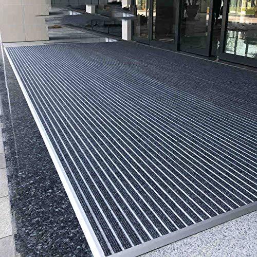 HRYP - Alfombrillas de aleación de aluminio para puerta a prueba de polvo, alfombra para exteriores, recta de pavimentación – 100 x 150 cm 100*200 Rojo
