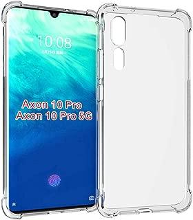Axon 10 Pro Case,ZTE Axon 10 Pro case,PUSHIMEI Soft TPU Crystal Transparent Slim Anti Slip Full-Body Protective Phone Case Cover for ZTE Axon 10 Pro 5G(Clear Anti-Shock TPU)