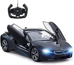 rastar Remote Control Car, 1:14 i8 Radio Remote Control Racing RC Toy Car Model Vehicle, Open Doors by RC, MattBlack