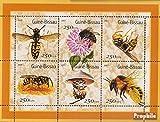 Prophila Collection Guinea-Bissau 1510-1515 Kleinbogen (kompl.Ausg.) 2001 Wespen und Bienen (Briefmarken für Sammler) Wirbellose Tiere Sonstige