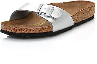 Birkenstock Madrid Birko-Flor Femmes Silver Sandals