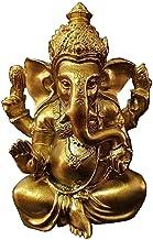 Golden Resin Lord Ganesha Buddha Statue Ornament, Man-Made Elephant God Sculpture Craft, Miniatures Figurine Statues Home ...