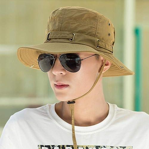 YUYILIN Chapeau De Pêcheur-Chapeau D'été pour Hommes Sun Prougeection Sun Hat Sports De Plein Air Chapeau De Pêche Jeune Chapeau De Pêcheur Chapeau De Soleil Hommes