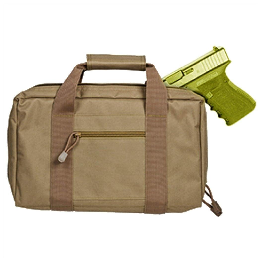 Airsoft Padded Soft Pistol Case Travel/Storage Gun Case Holds 2 Tan