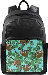 Women/Men Canvas Backpack SlothTravel Laptop Shoulder Bag Waterproof Computer Back Pack Daypack