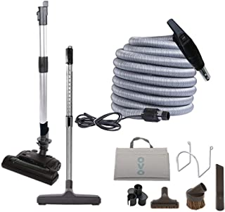 Best Ovo Deluxe 6 Height Adjustable Electric Carpet Beater Central Vacuum Cleaning Tool Set, 40ft, Black & Grey Review
