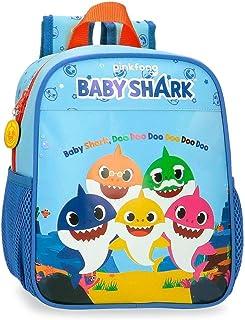 Baby Shark Shark Family Mochila Preescolar Azul 21x25x10 cms Microfibra 5.75L