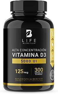 Vitamina D3 5000 UI de 300 softgels B Life