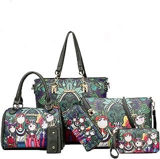 BUKESIYI Damen Tasche Handtasche Umhängetasche Schultertasche Frauen Kulturbeutel Weekender Klein PU Leder CCDE77503