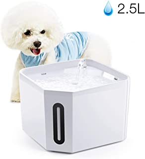 isYoung Pet Fountain, 84oz/2.5L Automatic Cat Water Fountain Ultra Quiet Dog Water Dispenser for Cats, Dogs, Small Pets