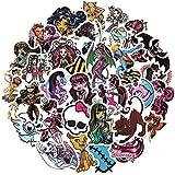 Monster High School Animation Creative Graffiti Sticker Autocollant PC Guitare Valise Casque PVC étanche 100 pcs