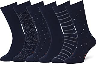 comprar comparacion Easton Marlowe Calcetines Hombre 6 Pares Unisex Mujer, Estampados, Lisos, Algodón, Rombos