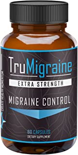 TruMigraine - All Natural Migraine Headache Prevention & Control Supplement. No Magnesium Stearate, Extra Strength Formula. Naturopathic Doctor Recommended Holistic Remedy. Freedom from Migraines.