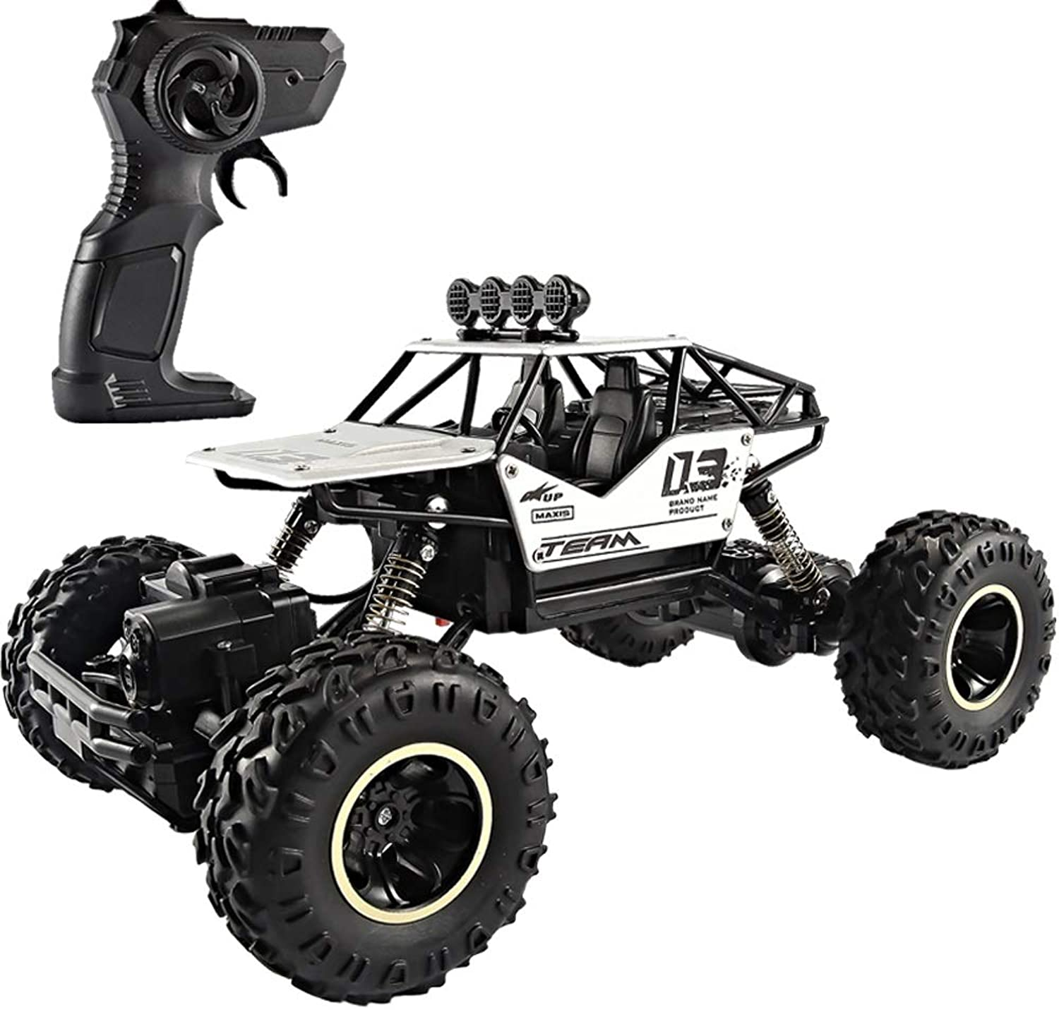 PETRLOY RC Truck 1 14 Scale Rechargeable Remote Control Car Crawler Off Road Monster Crawlers Toy 2.4 Ghz 4WD for Adults Kids Car Terrain Cars Electric Truck Radio Fast 30+ MPH