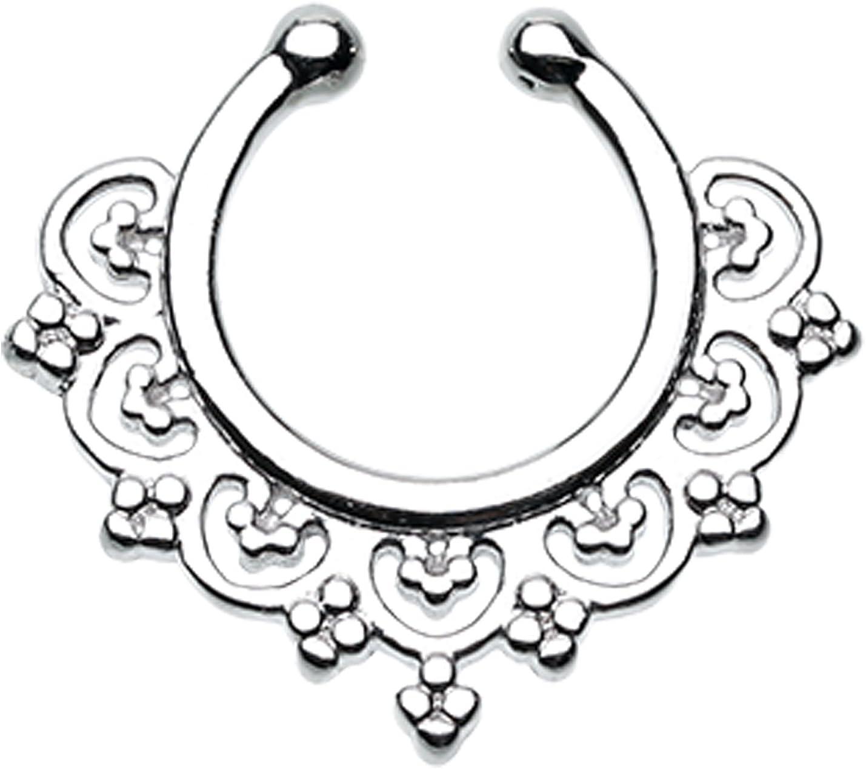 Celestial Filigree Raleigh Mall Fake Septum Max 57% OFF Ring