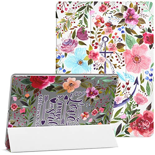 Mertak Case Compatible with iPad Pro 11 2020 12.9 2019 2018 Air 3 2 10.2 8th 7th Gen Mini 5 4 10.5 inch 9.7 Bible Verse Protective Floral Hebrews 6:19 Magnetic Scripture Clear Love Quote