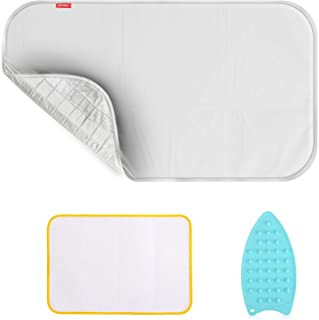 Ironing Blanket Ironing Mat,Second Generation Upgraded Thick Portable Travel Ironing Pad,Isolate Heat Pad Cover for Washer...