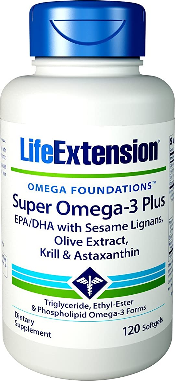 乳白ホバーブロンズ海外直送品Life Extension Super Omega with Krill & Astaxanthin, 120 Sgels