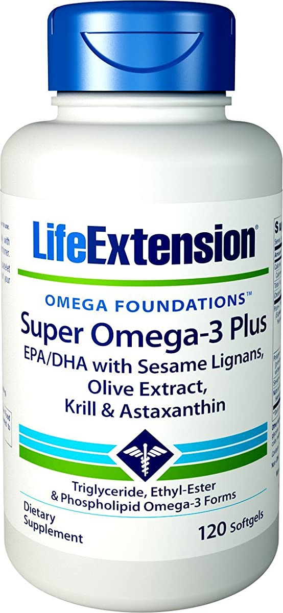 学期定期的に居住者海外直送品Life Extension Super Omega with Krill & Astaxanthin, 120 Sgels