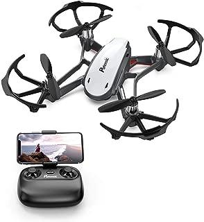 Potensic Mini Drone con Cámara HD, Avión WiFi FPV, Cuadricóptero con Altitud Hold, Sensor de Gravedad, Modo sin Cabeza, Una Tecla de Despeque y Aterrizaje (Blanco)