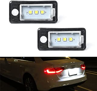 License Plate Light, GemPro 2Pcs LED Car License Number Plate Lamps For Audi A3 S3 A4 S4 A5 A6 S6 A8 S8 Q7 RS4, Powered by 3SMD Xenon White LED Lights