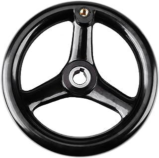 Changor Rueda de mano de 3 radios, rueda de mano redonda de metal universal de mayor durabilidad con plástico duradero par...