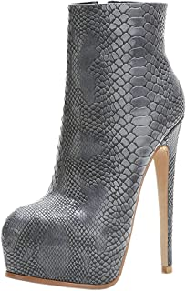 Zanpa Women Fashion Ankle Boots Stiletto Heels
