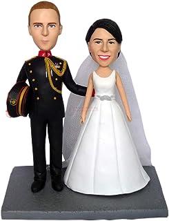 personalizzato topper torta nuziale personalizzata personalizza dalle tue foto di nozze a figure in miniatura di sculture ...