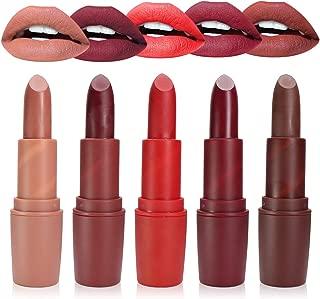 Matte lipstick set, 5 Color Non-Stick Cup Liquid Lipstick Waterproof Long Lasting Lip gloss Set (5 PCs)